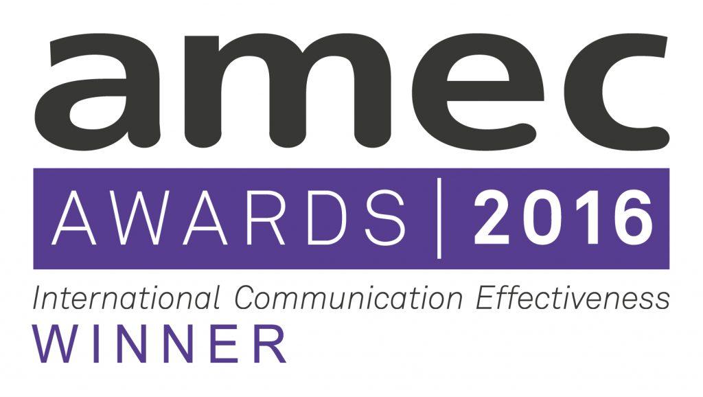 AMEC Awards 2016 Winner